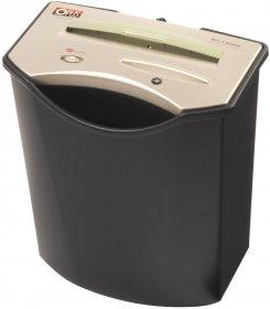 Niszczarka przybiurkowa Opus VS 711 CD, ścinek 4x40mm, 6 kartek, P-4/Tx-4/Ex-3 DIN, czarno-złoty