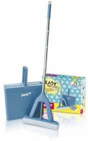 Zestaw York Easy, wiadro+mop gąbkowy+kij, niebieski