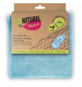 Ściereczka uniwersalna Eco Natural by York Oceaniczna, mikrofibra, 30x30cm, 1 sztuka, niebieska