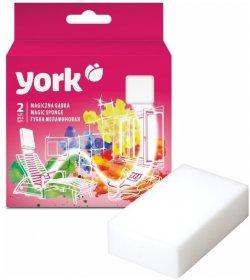 Gąbka uniwersalna York Magiczna, melamina, 11x6x2.5cm, 2 sztuki, biały