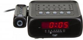 Radiobudzik Adler AD1120, z projektorem, czarny