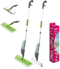Mop York Spray&Collect 4 w 1, szaro-zielony