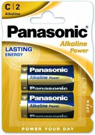 Bateria alkaliczna Panasonic, 1.5V, C/ LR14, 2 sztuki
