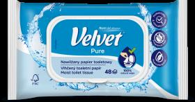 Papier nawilżany Velvet Pure, 42 sztuki