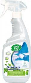 Płyn do urządzeń sanitarnych Eco Line Gold Drop, z rozpylaczem, 0.75l