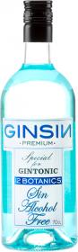 Gin ziołowy bezalkoholowy 12 Botanics Ginsin, butelka szklana, 0.7l, niebieski