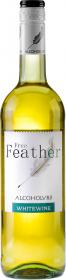 Wino bezalkoholowe półsłodkie Free Feather Chardonnay, 0.75l, białe