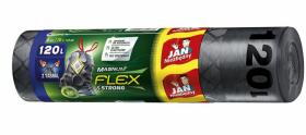 Worki na śmieci z taśmą Jan Niezbędny Magnum Flex&Strong, LDPE, 120l, 70x110cm, 8 sztuk, grafitowy