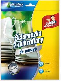 Ściereczka do naczyń Jan Niezbędny, mikrofibra, 1 sztuka, mix kolorów