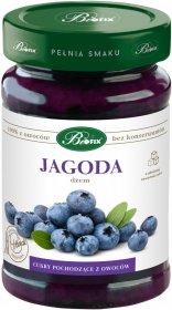 Dżem BiFix, 100% z owoców, jagodowy, o obniżonej zawartości cukru, 290g