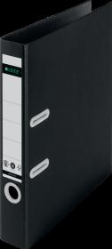 Segregator 180° Leitz Recycle, A4, szerokość grzbietu 55mm, do 350 kartek, czarny
