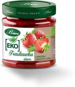 Dżem ekologiczny BiFix, truskawkowy, o obniżonej zawartości cukru, 200g