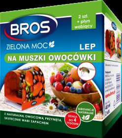Lep na muszki owocówki Bros Zielona Moc, 2 sztuki