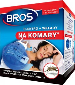 Urządzenie elektryczne na komary Bros Elektro + 10 wkładów