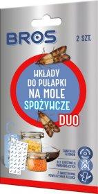 Wkłady do pułapki na mole spożywcze Bros Duo, 2 sztuki