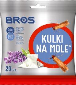 Kulki na mole Bros, lawendowy, 20 sztuk