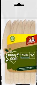 Noże jednorazowe Jan Niezbędny Zielony Dom, drewno, 12 sztuk, brązowy jasny