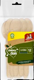 Łyżki jednorazowe Jan Niezbędny Zielony Dom, drewno, 12 sztuk, brązowy jasny
