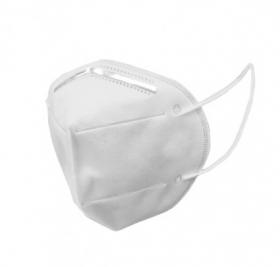 Maseczka ochronna FFP2 KN95, EN149:2001+A1:2009, higieniczna, pięciowarstwowa, z polipropylenu, 20 sztuk, biały (c)