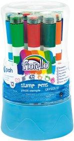 Pisaki stemple Fiorello GR-F205 ST, 12 sztuk, mix kolorów