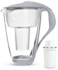 Dzbanek filtrujący Dafi Crystal LED, 2l, szklany, stalowy + wkład Classic