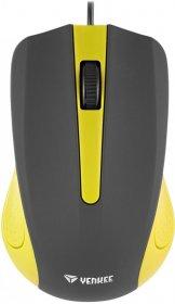Mysz przewodowa Yenkee USB Suva, optyczna, żółto-czarny