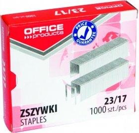 Zszywki Office Products 23/17, 1000 sztuk, srebrny