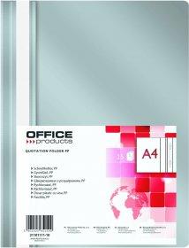 Skoroszyt plastikowy bez oczek Office Products, A4, do 200 kartek, szary