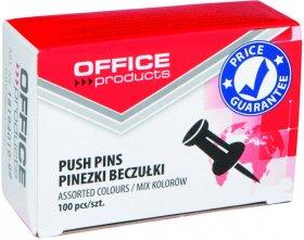 Pinezki beczułki Office Products, 100 sztuk, mix kolorów