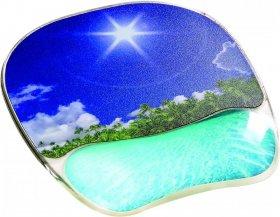 Podkładka żelowa pod mysz Fellowes, 235x200x23mm, fotograficzna- tropikalna plaża