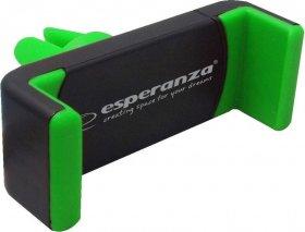 Uchwyt samochodowy Esperanza Vamp, na telefon, czarno-zielony