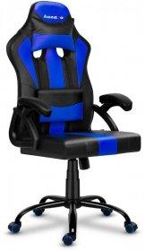 Fotel gamingowy Huzaro Force 3.0 Blue, czarno-niebieski