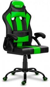 Fotel gamingowy Huzaro Force 3.0 Green, czarno-zielony