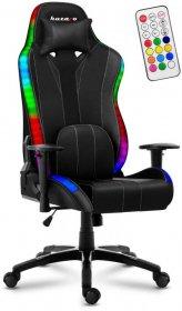 Fotel gamingowy Huzaro Force 6.7 RGB Led, podświetlany, czarny