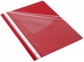 Skoroszyt plastikowy bez oczek Bantex Budget, A4, do 200 kartek, czerwony