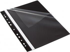 Skoroszyt plastikowy oczkowy  Bantex Budget EVO, A4, do 200 kartek, czarny