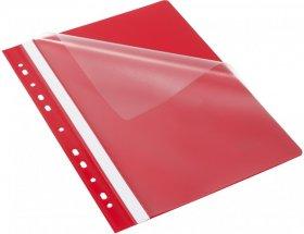 Skoroszyt plastikowy oczkowy Bantex Budget EVO, A4, do 200 kartek, czerwony