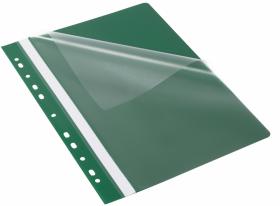 Skoroszyt plastikowy oczkowy Bantex Budget EVO, A4, do 200 kartek, zielony