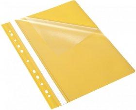 Skoroszyt plastikowy oczkowy Bantex Budget EVO, A4, do 200 kartek, żółty
