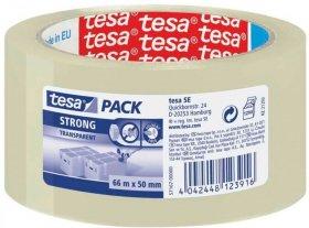 Taśma pakowa Tesa, cicha, akryl, 66mx50mm,  transparentny