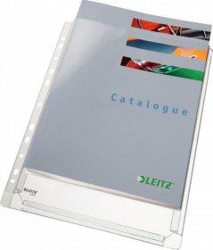 Koszulki groszkowe Leitz Premium, poszerzane, A4, 170 µm, 5 sztuk, transparentny