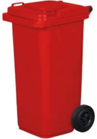 Pojemnik na odpady, 240l, czerwony