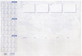 Podkład na biurko Warta, z kalendarzem, terminarzem i mapą, 590x413mm