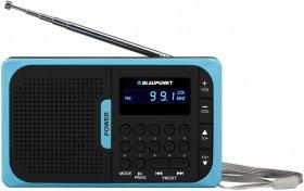 Radio przenośne Blaupunkt PR5BL, AM/FM, USB/microSD, czarno-niebieski