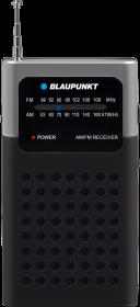 Radio kieszonkowe Blaupunkt PR4BK, z klipsem, czarny