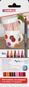 Pisak do powierzchni ceramicznych edding 4200, 1-4mm, 6 sztuk, mix kolorów ciepłych