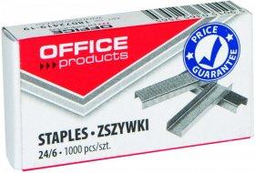 Zszywki Office Products 24/6, 1000 sztuk, srebrny
