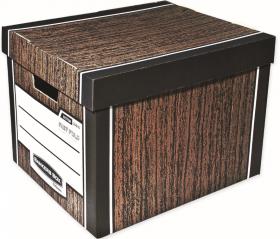 Pudło archiwizacyjne Fellowes Woodgrain, 340x295x405mm, 2 sztuki, brązowy