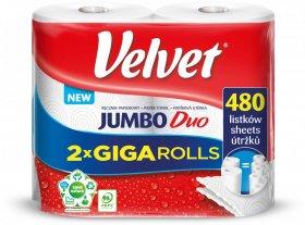 Ręcznik papierowy Velvet Jumbo Duo, 2-warstwowy, w roli, 2 rolki, biały
