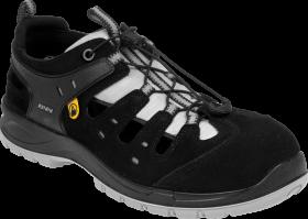 Sandały ochronne Bennon Bombis Lite S1P NM Grey, rozmiar 45, czarny